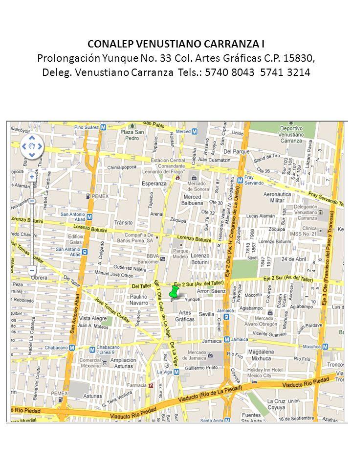 CONALEP VENUSTIANO CARRANZA I Prolongación Yunque No. 33 Col