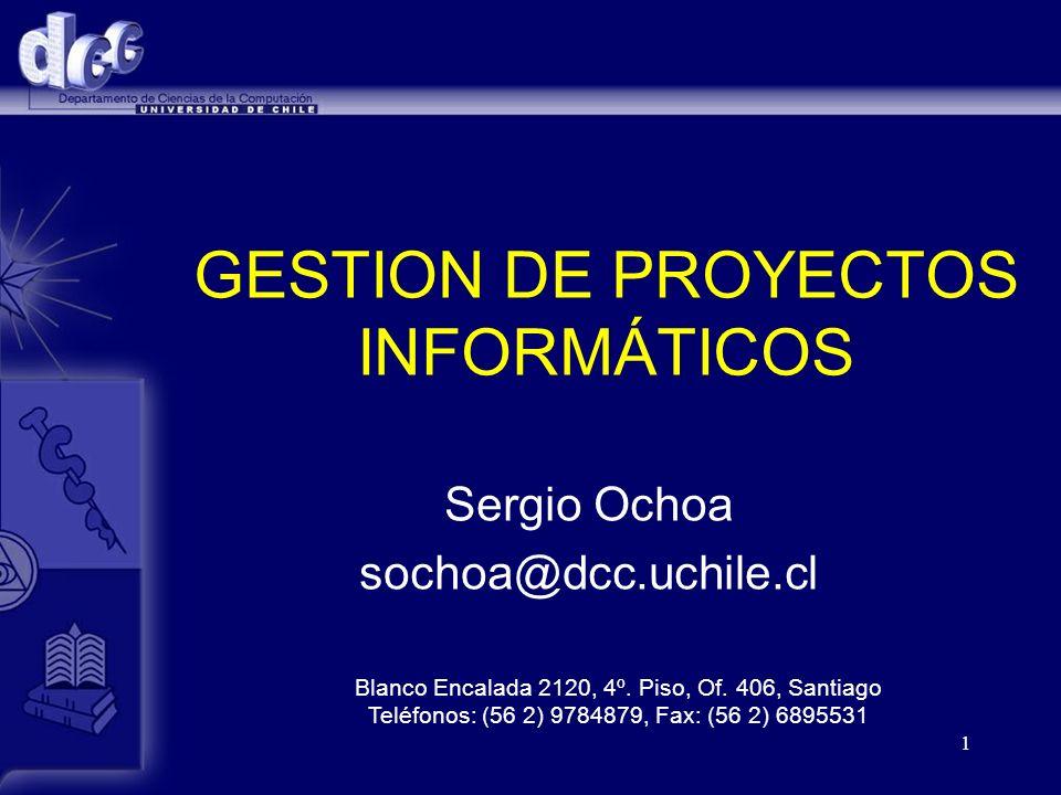 GESTION DE PROYECTOS INFORMÁTICOS