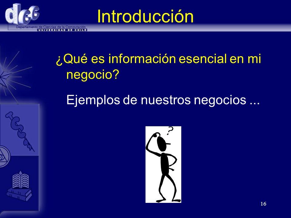 Introducción ¿Qué es información esencial en mi negocio