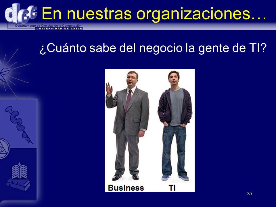 En nuestras organizaciones…