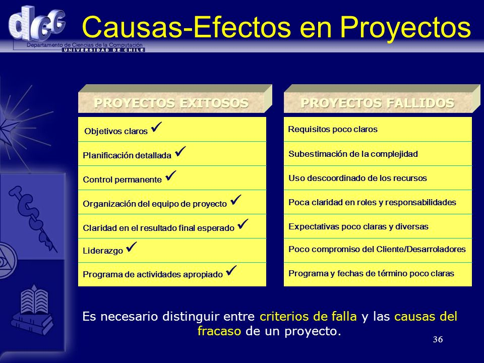 Causas-Efectos en Proyectos