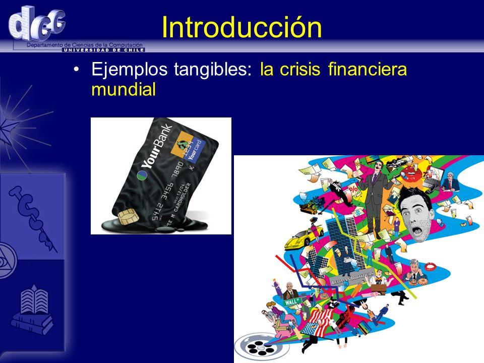 Introducción Ejemplos tangibles: la crisis financiera mundial