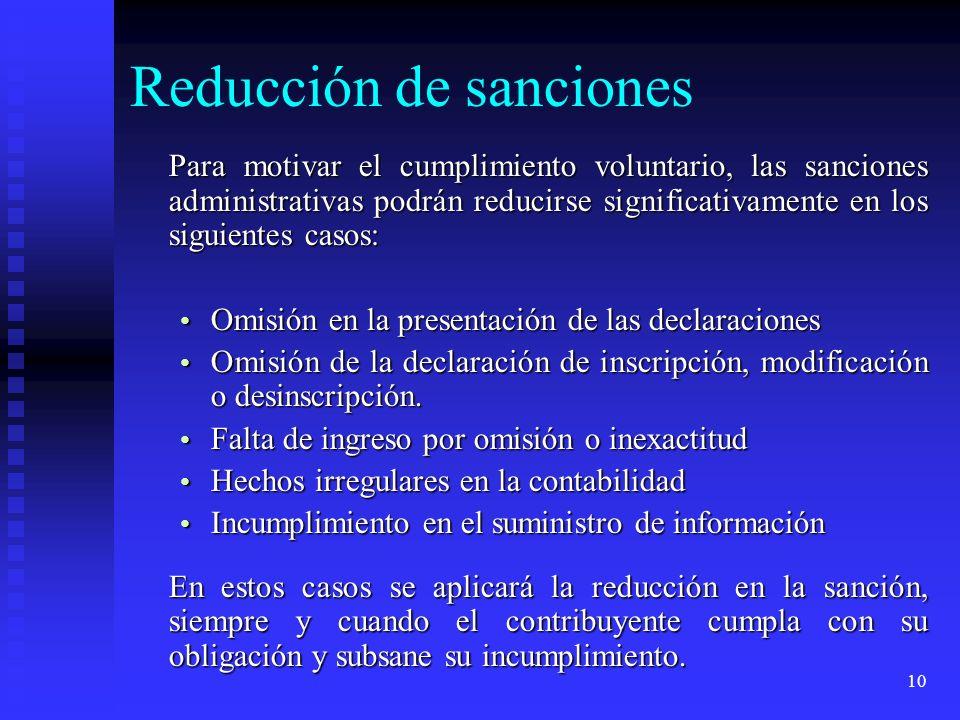 Reducción de sanciones