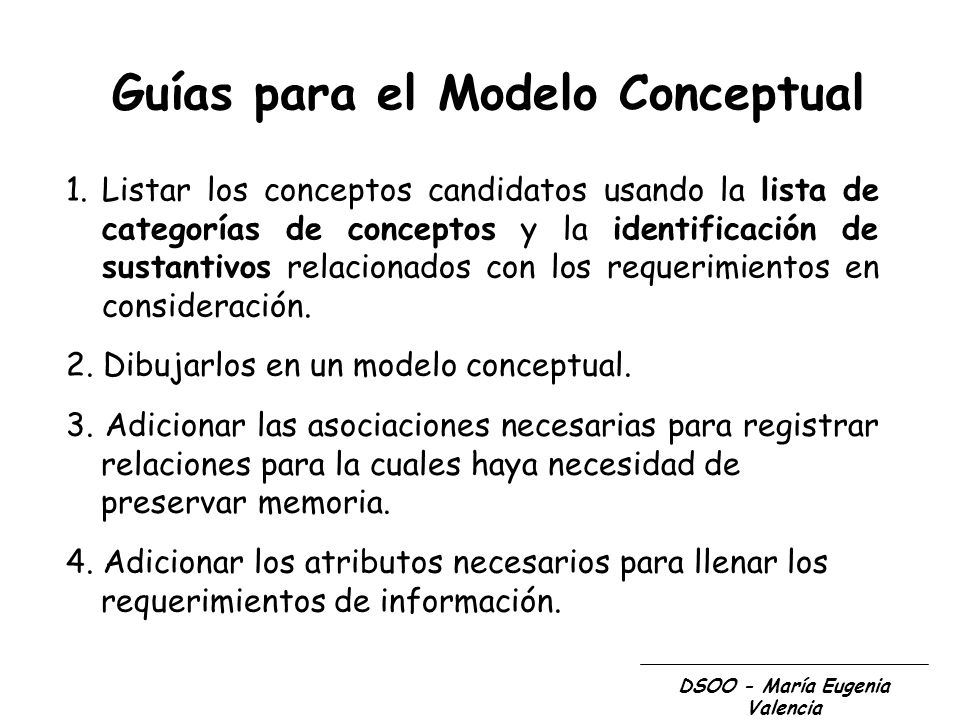 Guías para el Modelo Conceptual