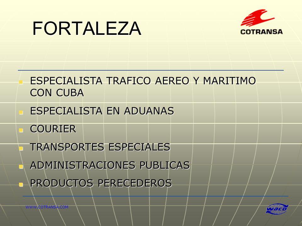 FORTALEZA ESPECIALISTA TRAFICO AEREO Y MARITIMO CON CUBA