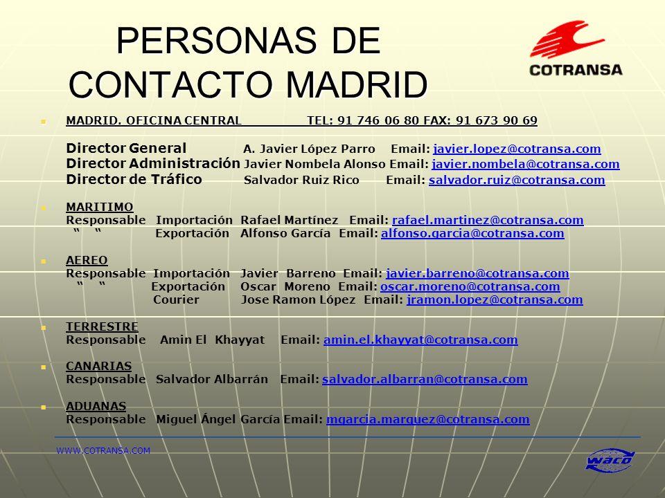 PERSONAS DE CONTACTO MADRID