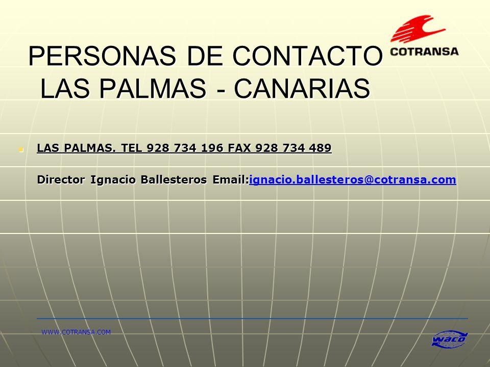 PERSONAS DE CONTACTO LAS PALMAS - CANARIAS