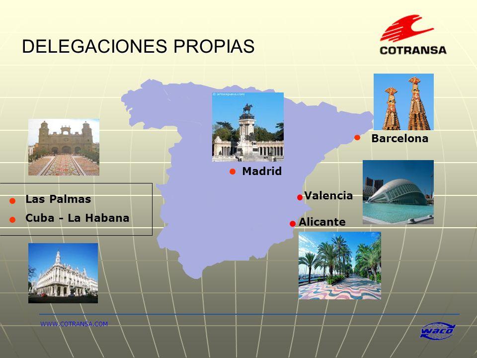 DELEGACIONES PROPIAS Barcelona Madrid Valencia Las Palmas