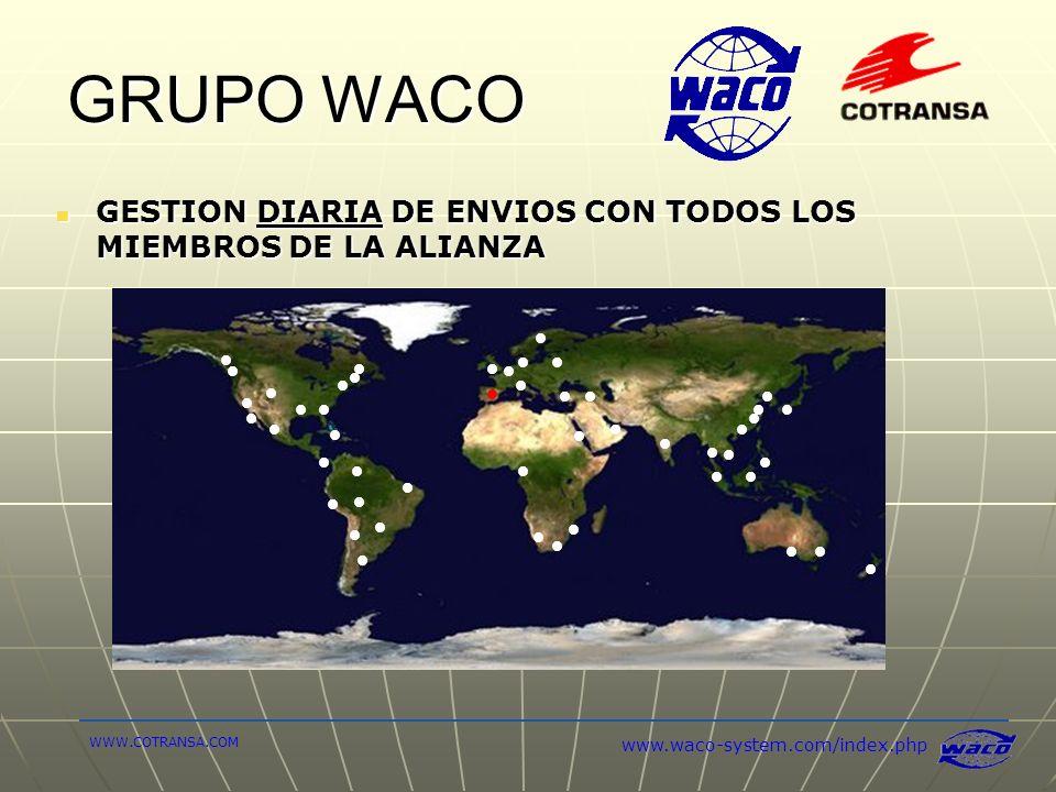 GRUPO WACO GESTION DIARIA DE ENVIOS CON TODOS LOS MIEMBROS DE LA ALIANZA.
