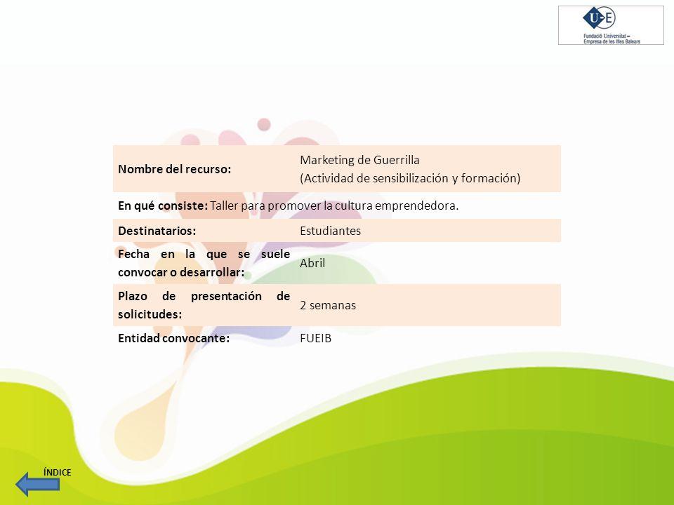 Marketing de Guerrilla (Actividad de sensibilización y formación)