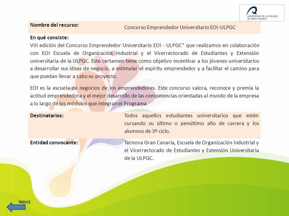 Concurso Emprendedor Universitario EOI-ULPGC En qué consiste:
