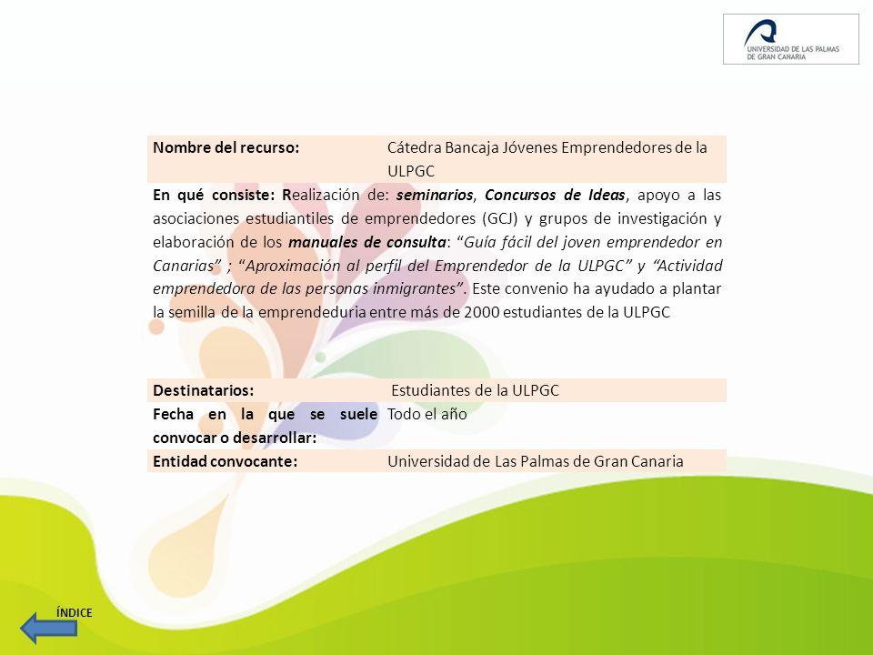 Cátedra Bancaja Jóvenes Emprendedores de la ULPGC