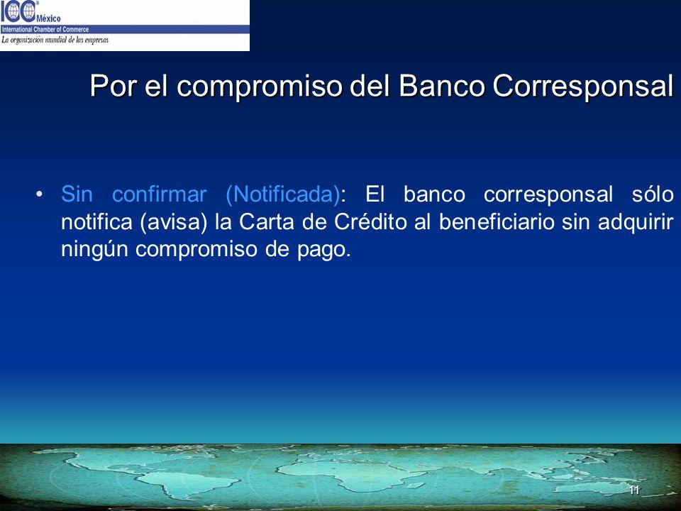 Por el compromiso del Banco Corresponsal