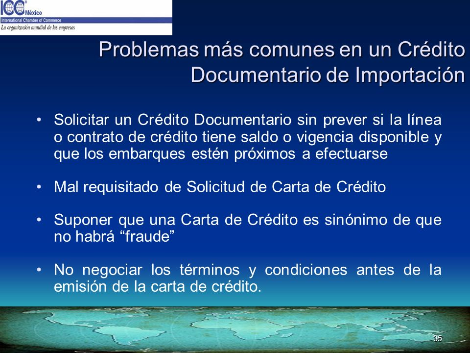 Problemas más comunes en un Crédito Documentario de Importación