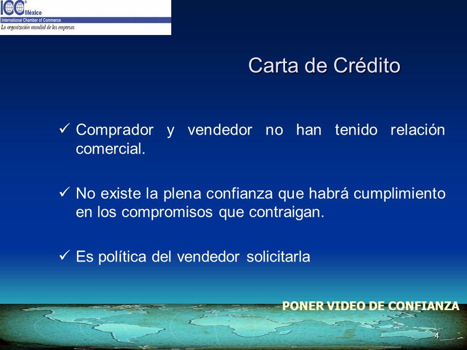 Carta de Crédito Comprador y vendedor no han tenido relación comercial.