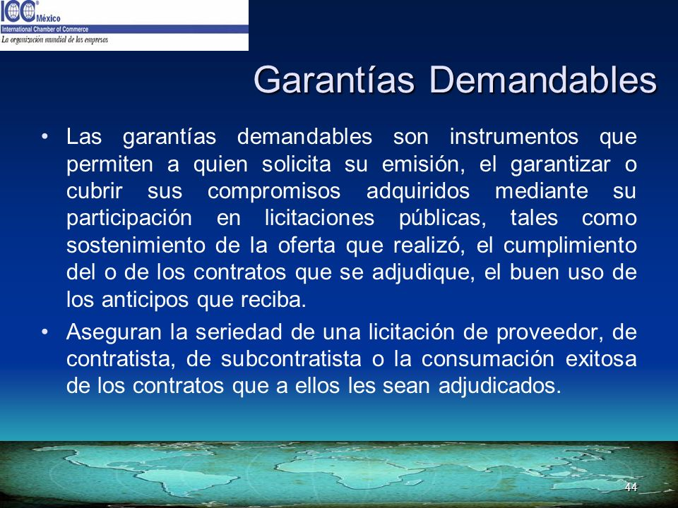 Garantías Demandables
