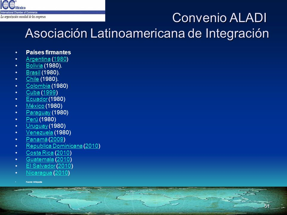 Convenio ALADI Asociación Latinoamericana de Integración