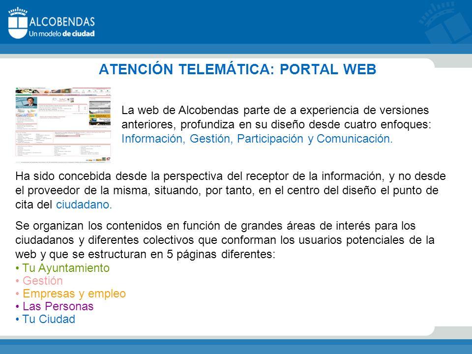 ATENCIÓN TELEMÁTICA: PORTAL WEB