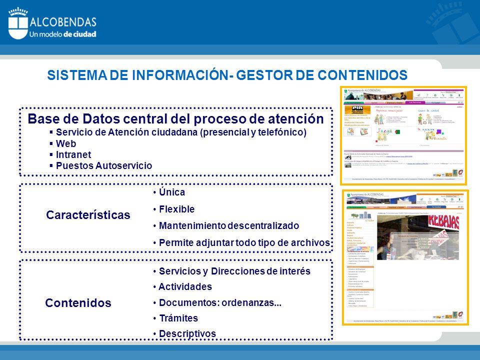 SISTEMA DE INFORMACIÓN- GESTOR DE CONTENIDOS