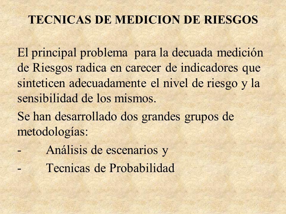 TECNICAS DE MEDICION DE RIESGOS