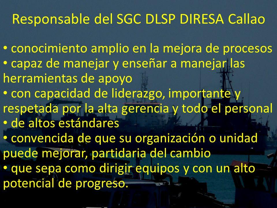 Responsable del SGC DLSP DIRESA Callao