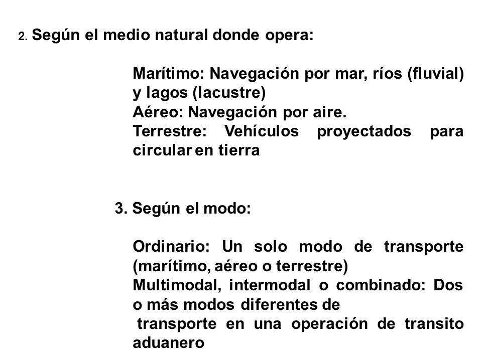 Marítimo: Navegación por mar, ríos (fluvial) y lagos (lacustre)