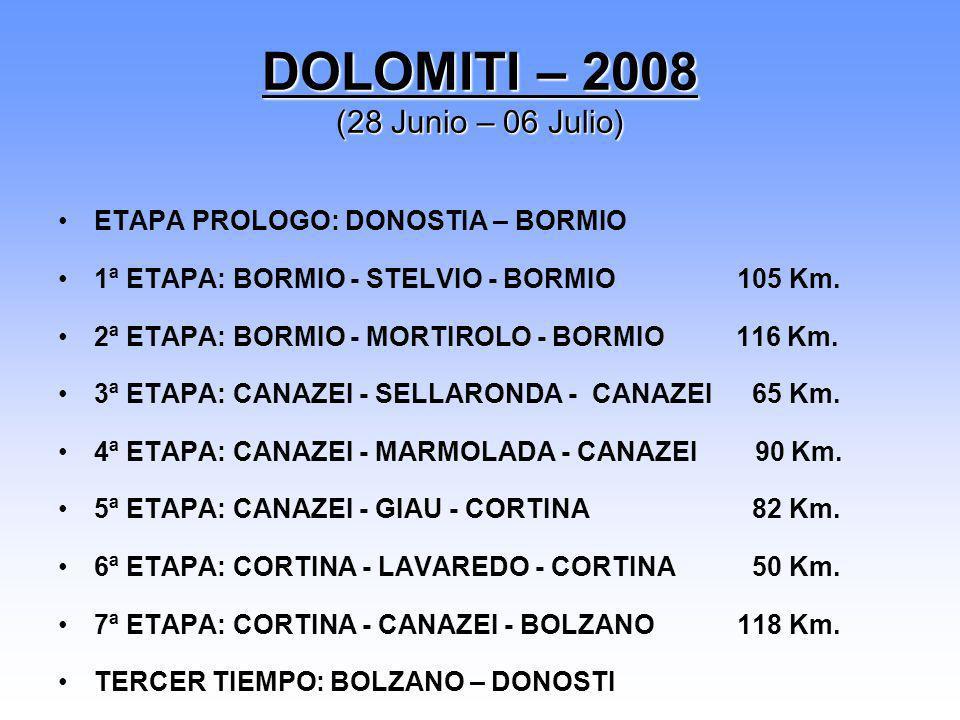 DOLOMITI – 2008 (28 Junio – 06 Julio)