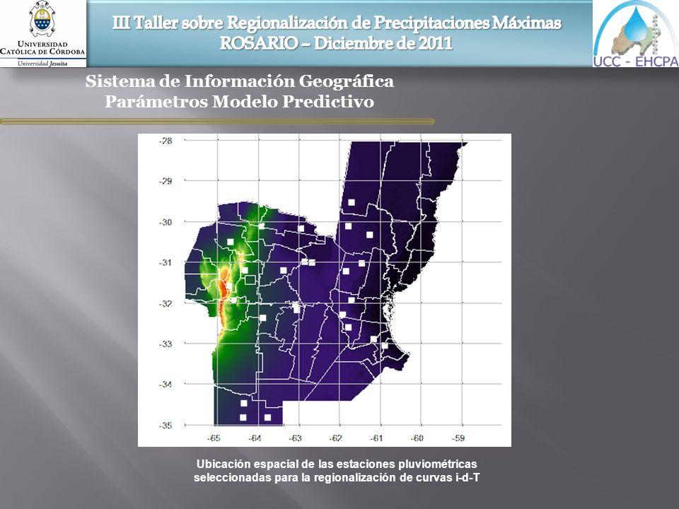 Sistema de Información Geográfica Parámetros Modelo Predictivo