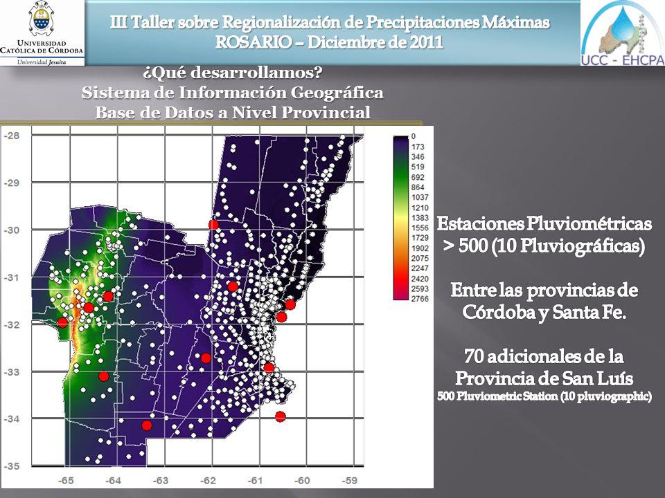 Sistema de Información Geográfica Base de Datos a Nivel Provincial