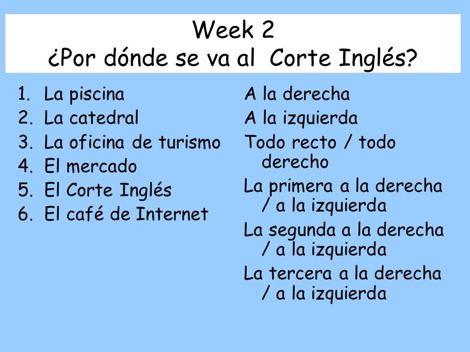 Week 2 ¿Por dónde se va al Corte Inglés