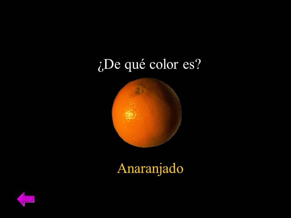 ¿De qué color es Anaranjado