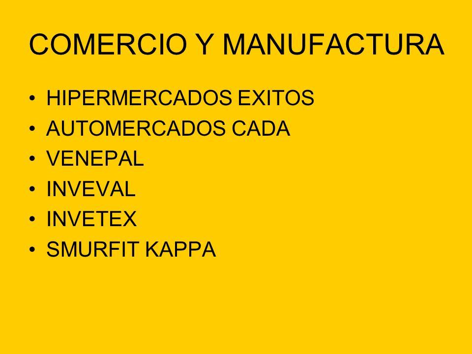 COMERCIO Y MANUFACTURA