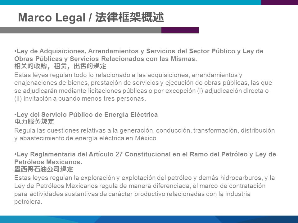 Marco Legal / 法律框架概述