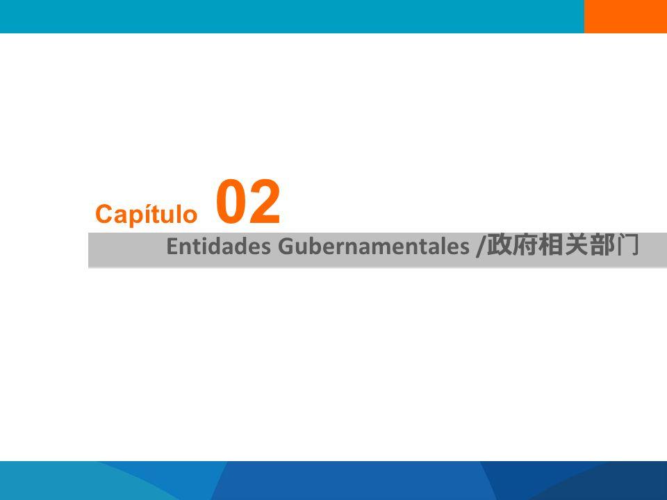 Capítulo 02 Entidades Gubernamentales /政府相关部门