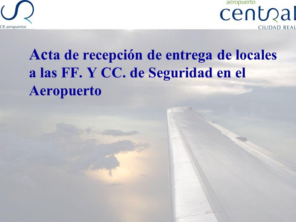 Acta de recepción de entrega de locales a las FF. Y CC