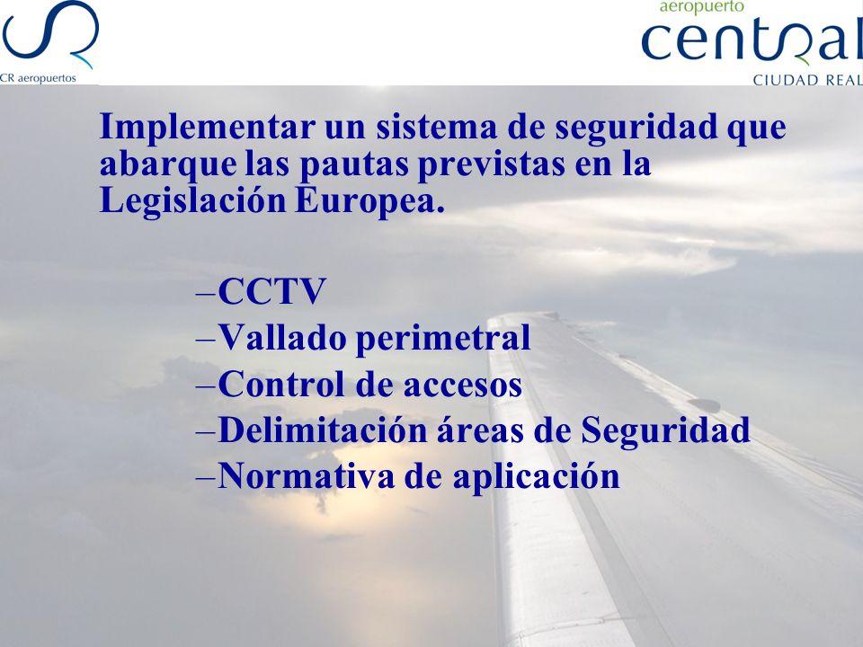 Delimitación áreas de Seguridad Normativa de aplicación