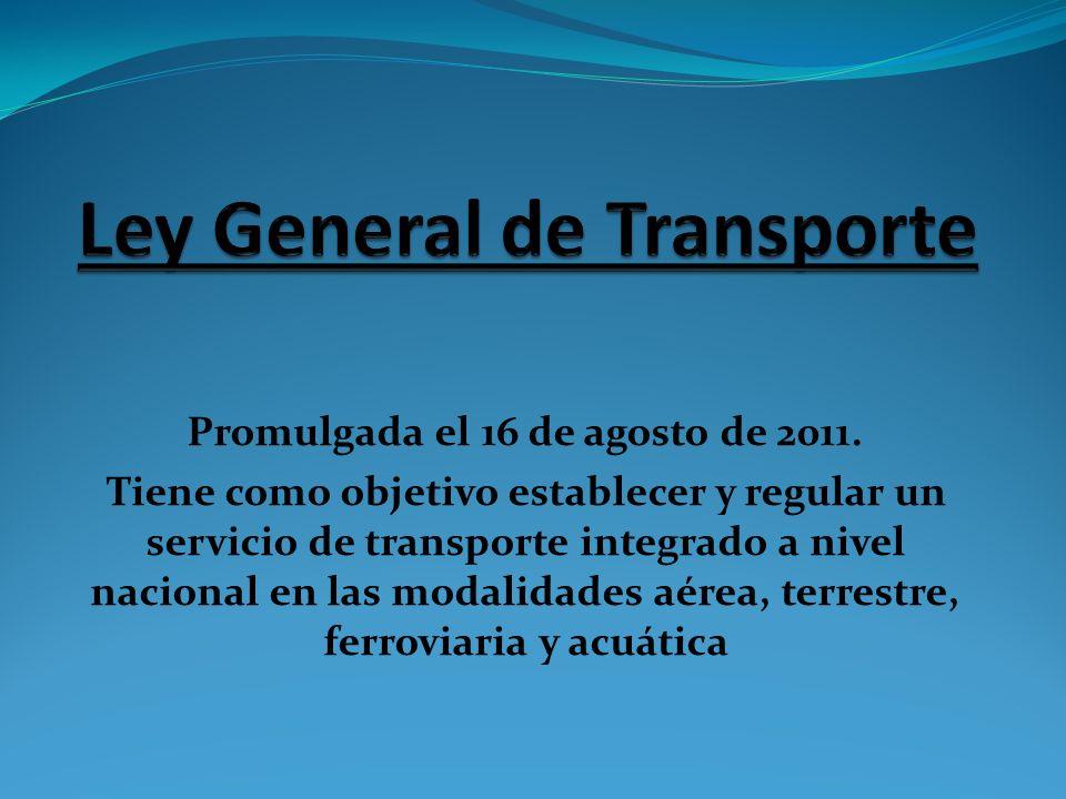 Ley General de Transporte