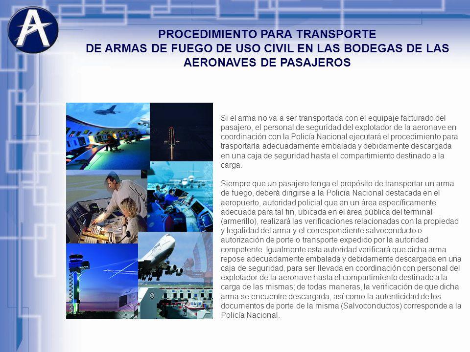 PROCEDIMIENTO PARA TRANSPORTE