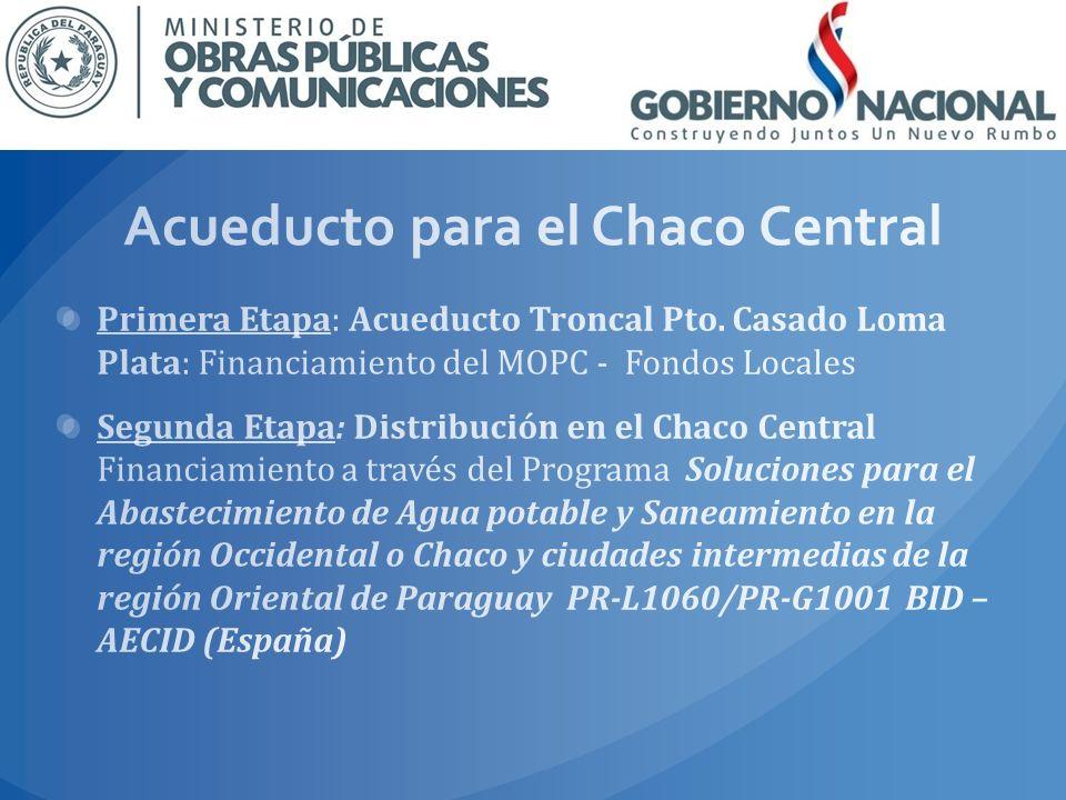 Acueducto para el Chaco Central