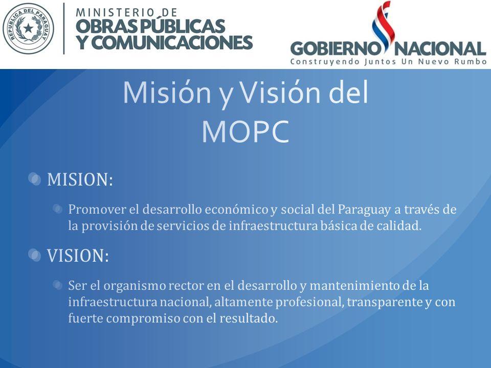 Misión y Visión del MOPC