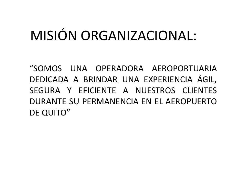MISIÓN ORGANIZACIONAL: