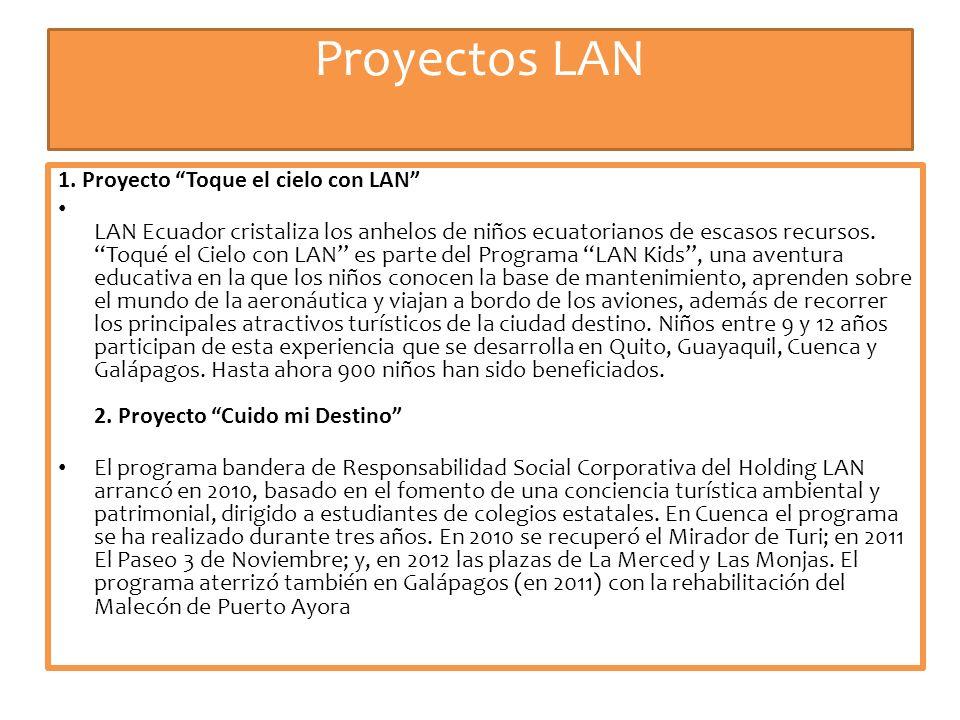 Proyectos LAN 1. Proyecto Toque el cielo con LAN