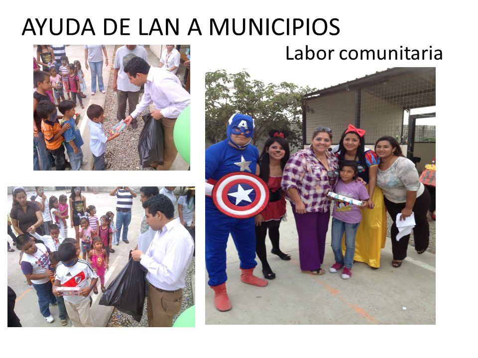 AYUDA DE LAN A MUNICIPIOS