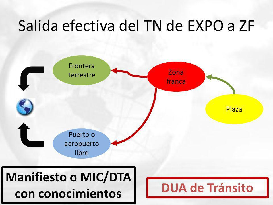 Salida efectiva del TN de EXPO a ZF