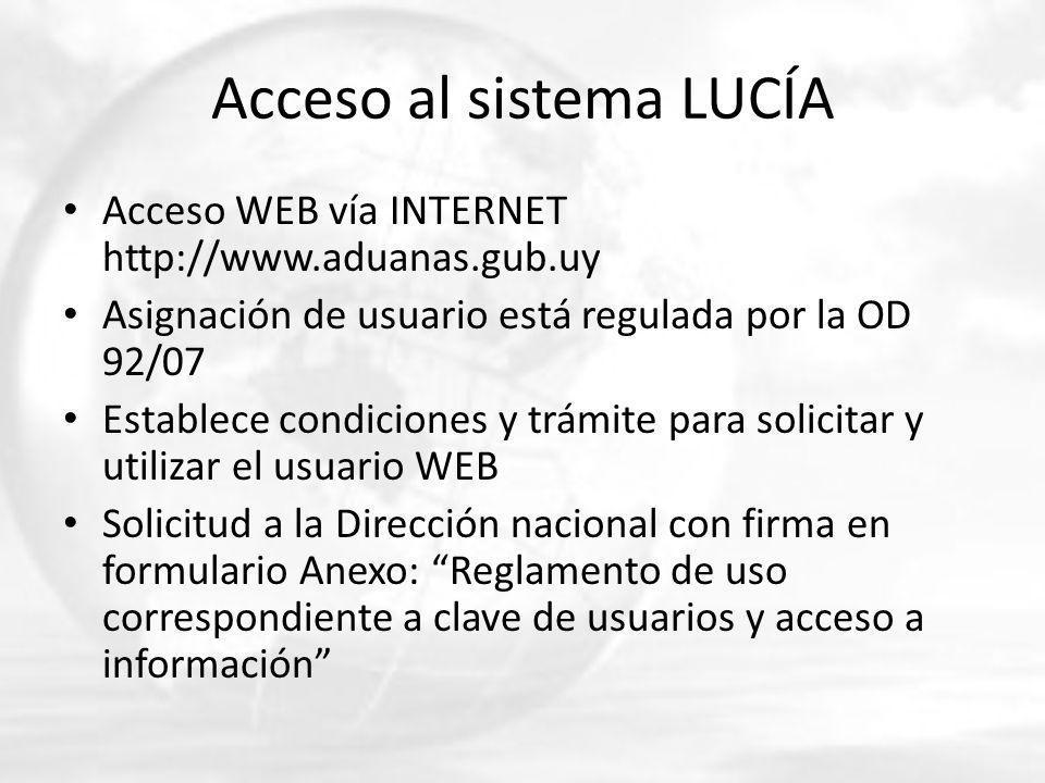 Acceso al sistema LUCÍA