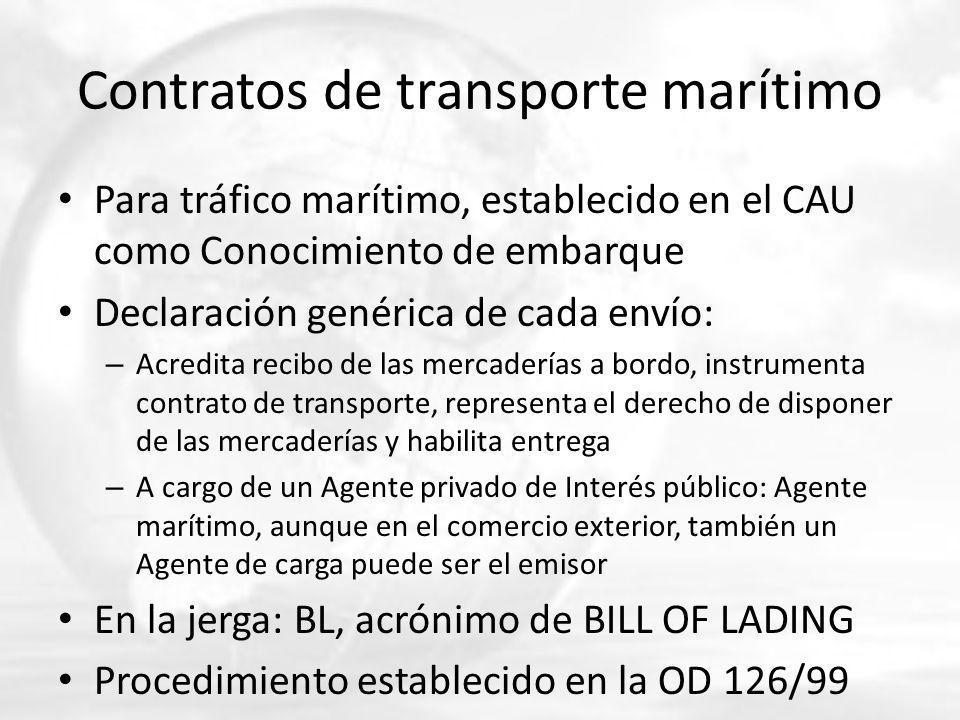 Contratos de transporte marítimo