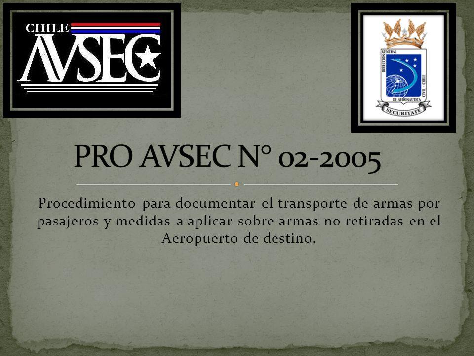 PRO AVSEC N° 02-2005