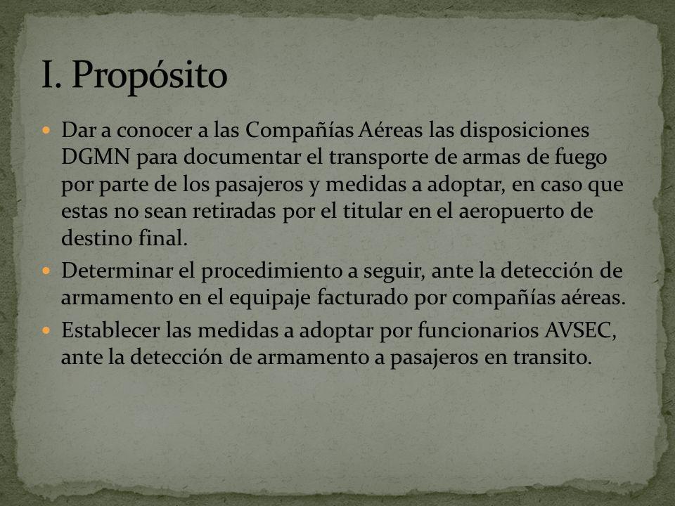 I. Propósito