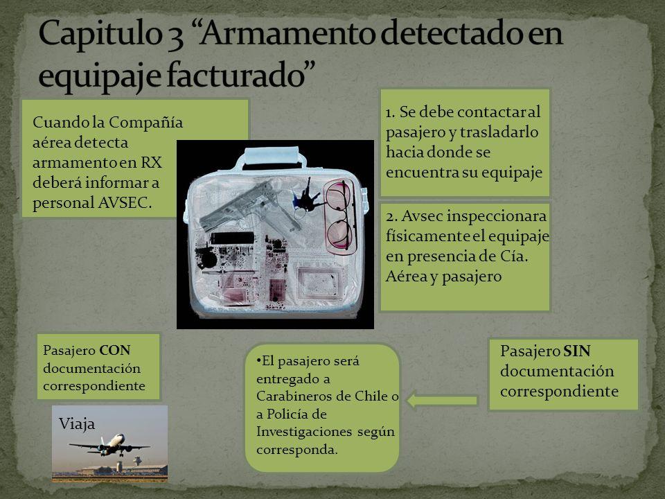 Capitulo 3 Armamento detectado en equipaje facturado