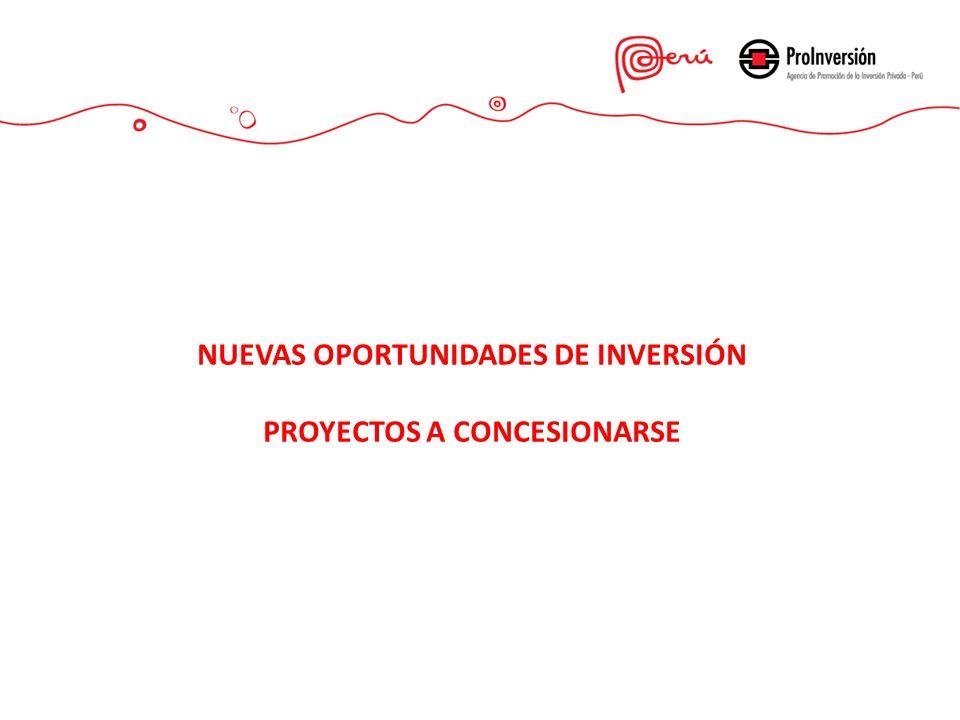 NUEVAS OPORTUNIDADES DE INVERSIÓN PROYECTOS A CONCESIONARSE